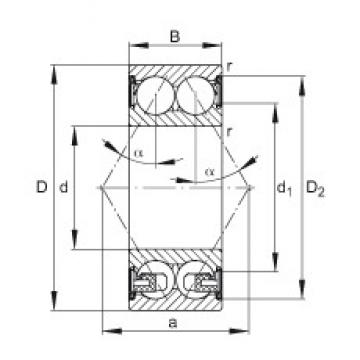 FAG 3307-BD-2Z-TVH angular contact ball bearings