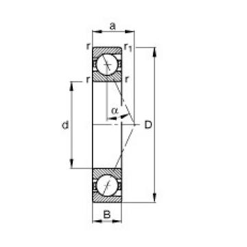 FAG B7010-E-T-P4S angular contact ball bearings