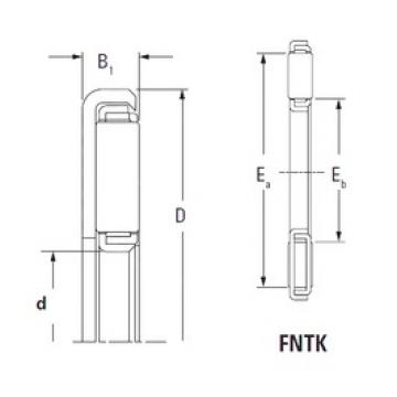 KOYO FNTK-3554 needle roller bearings