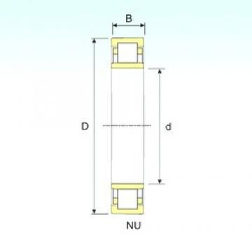 ISB NU 1020 cylindrical roller bearings
