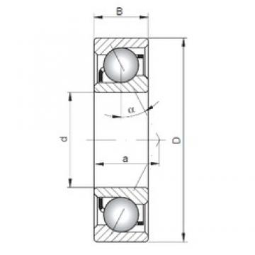 ISO 7020 B angular contact ball bearings
