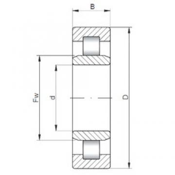 ISO NU426 cylindrical roller bearings