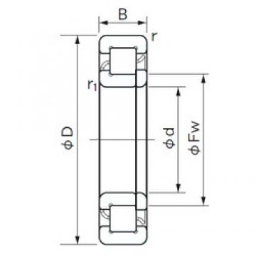 NACHI NUP 2317 E cylindrical roller bearings