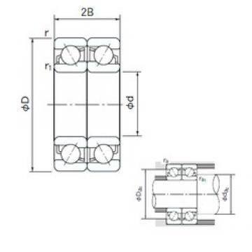 NACHI 7310BDF angular contact ball bearings