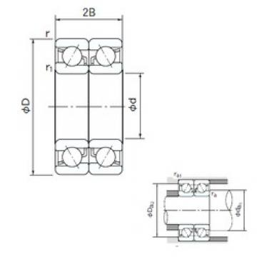 NACHI 7212CDB angular contact ball bearings