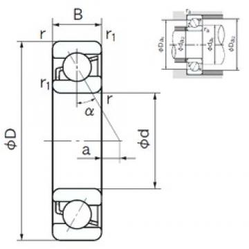 NACHI 7314 angular contact ball bearings