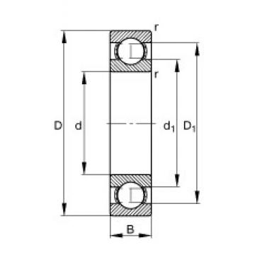 FAG 6038-M deep groove ball bearings