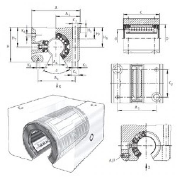 INA KGSNOS50-PP-AS linear bearings #2 image