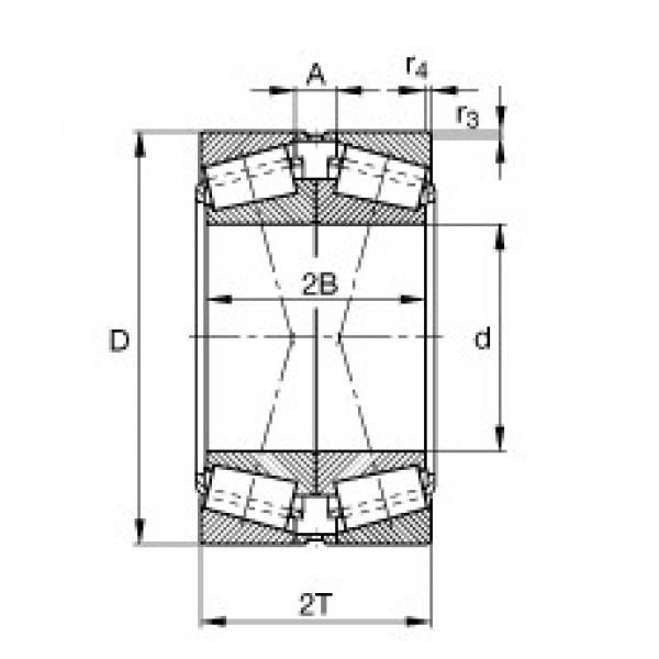 FAG 32234-A-N11CA-A350-410 tapered roller bearings #3 image